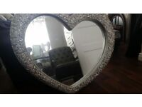 Love heart mirror large