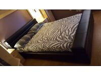laether double bed +memory foam mattress