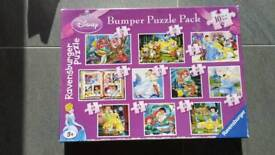 Disney Princess Jigsaw. 10 Puzzles. From a smoke free and pet free home.