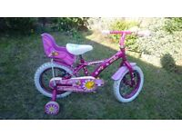 Apollo Daisy girls bike bicycle with stabilizers 14inches