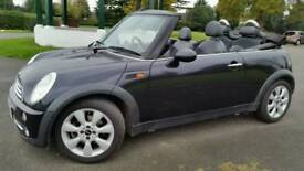 MINI CONVERTIBLE 1.6 COOPER**2005**BLACK**HPI CLEAR**LEATHER**PARKING SENSORS**AIRCON**ALLOY WHEELS*