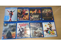 8 Blu-Ray DVD's - Job lot