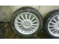 "MG ZS ZR 17"" Straights alloys and tyres"