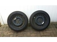 2 X VW Sharan Wheel Rims without tyres and 2 X VW Sharan Wheel Rims with Tyres