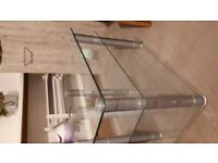 glass tv stand £5.00