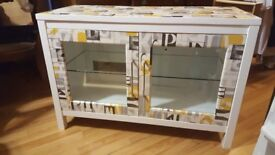 Wooden Tv Unit. painted , decoupage and sealed