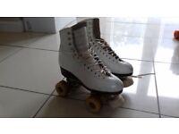 Leather roller skates size 5
