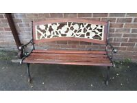 Wrougt iron bench