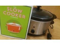 Electric Slow Cooker - Stainless Steel