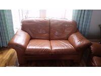 Tan leather sofa. Free to a good home!