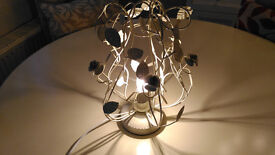 Table Lamp of wire and leaf pattern
