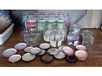 FREE ASSORTED JARS FOR PRESERVING OR CRAFTS