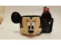 NEW Disney Minnie Mouse 3D Mug with spoon