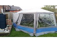 Easycamp Mykonos - 8 man canvas frame tent