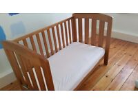 Mothercare Cot Bed was £300. Two in One cot bed heritage teak finish excellent condition. Pick Up