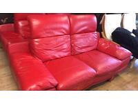 2 x 2 leather sofas