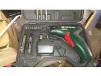 Parkside cordless screwdriver