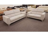 New Display Item Furniture Village Fabric 3 And 2 Seater Sofas Can/Del View collect Hucknall Nottm