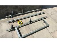 Ford transit custom roof bars with ladder stops and rear roller