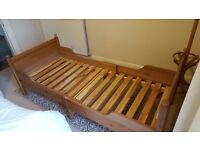 IKEA Leksvik Extendable Pine Single Bed