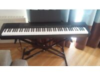 Casio CDP-120 keyboard, stand and sustain pedal included, collection only