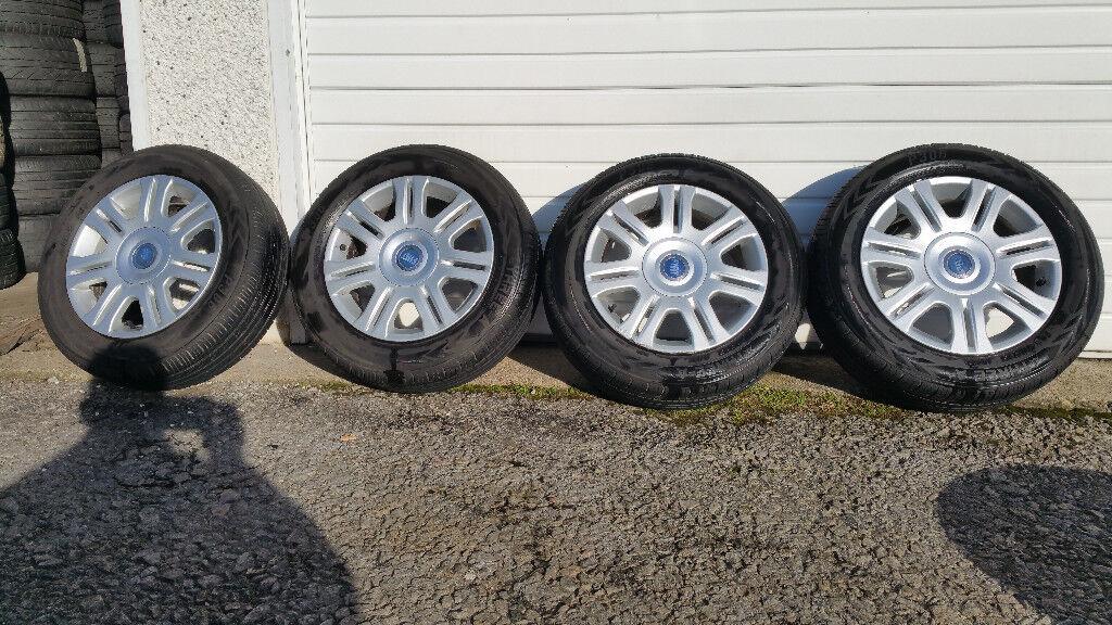 Fiat Genuine 15 alloy wheels + 4 x tyres 195 60 15