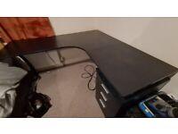 Large Corner Computer Desk - Black
