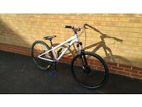 "DMR Reptoid Dirt Jump Bike 26"" disc brake nukeproof pedals, marzocchi fork"