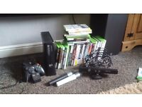 Xbox 360 120gb kinect and 39 games
