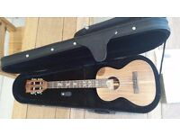 Ukulele kala solid acacia with slotted headstock and misi pickup