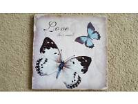 """BUTTERFLY """"LOVE MUCH"""" PICTURE - BRAND NEW"""
