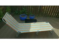 Garden sunbed and planters