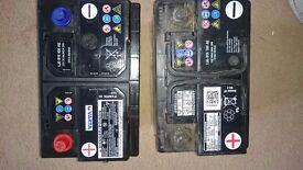Car batterys/2 for 10£