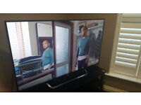 Sony 55 inch ultra thin Nano crystal 4K smart tv with voice operation controls and wi fi plus remote