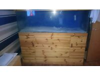 6x2x2 fish tank , stand ,led lights with remote and 80kilo white sand