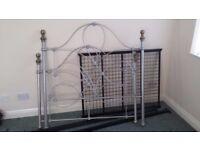 Edwardian Style Metal Double Bedframe