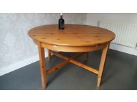 Extendable Wooden Pine Kitchen table for sale