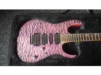Ibanez Premium RG870 QMZ with case. Made to a high standard.