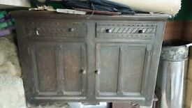 Solid oak cabinet dresser kitchen unit draws and cupboards a nice piece