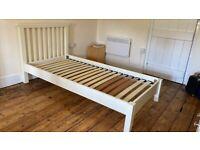 Dreams single bed light ivory colour