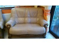 Beige Leather Suite 2-1-1