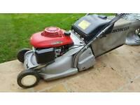 Honda petrol lawnmower self propelled rear roller