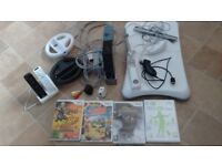Wii Console & Fit Board