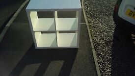 white boxed shelving in very good condition ideal for vinyl