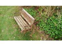 Wood and metal kids garden bench