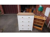 Nearly new chest of drawers