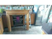 Solid wood fire surround free