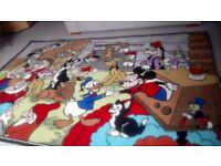Unique Disney character pure wool rug