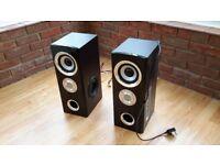 Pair of powered loudspeakers