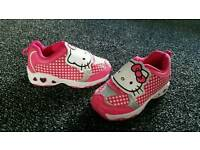 Flashing Hello kitty trainers size 7
